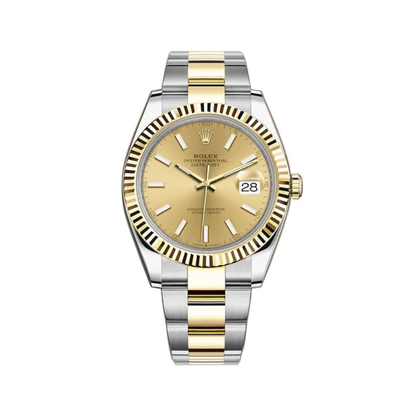 41mm Steel & Yellow Gold Champagne Index Dial Oyster Bracelet