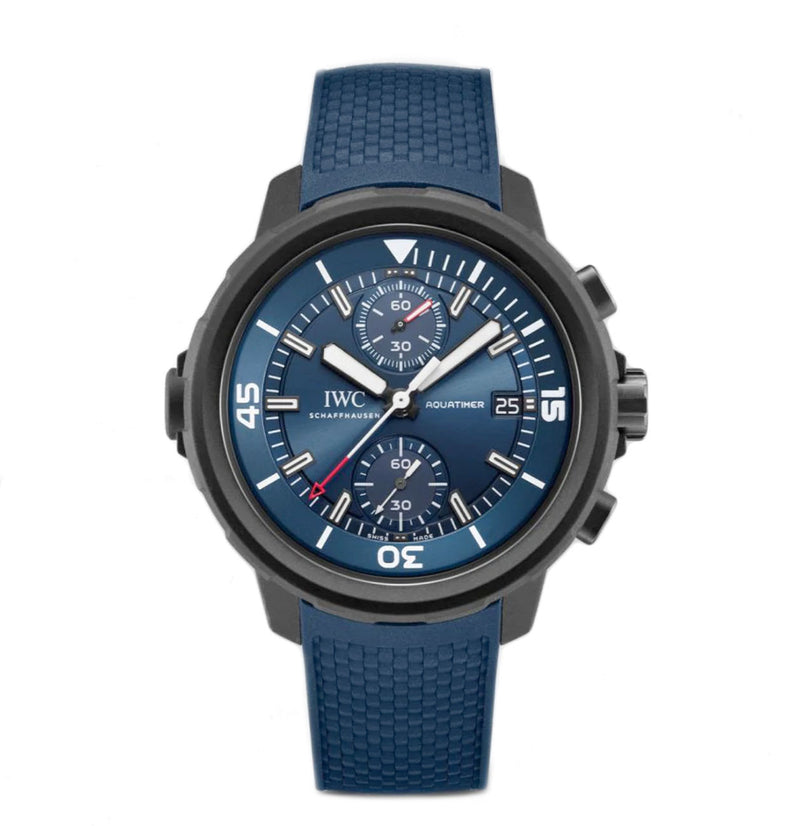 Chronograph Laureus Sport For Good Edition Vulcanized Rubber 45mm Blue Dial XXXX/1000