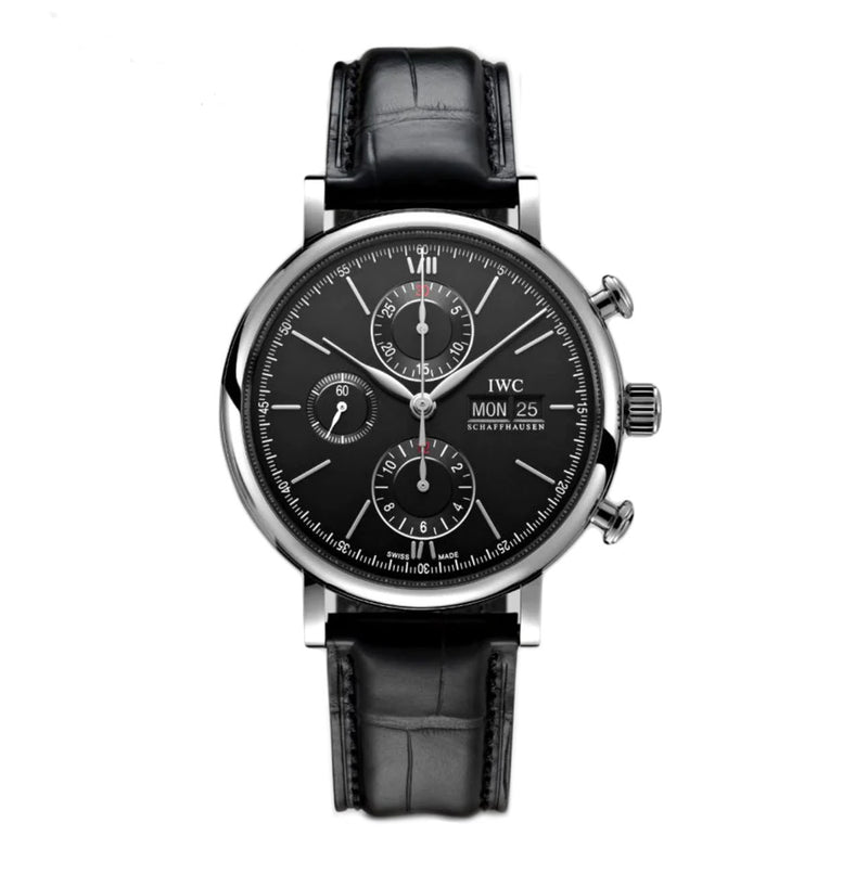 Chronograph Steel 42mm Black Dial