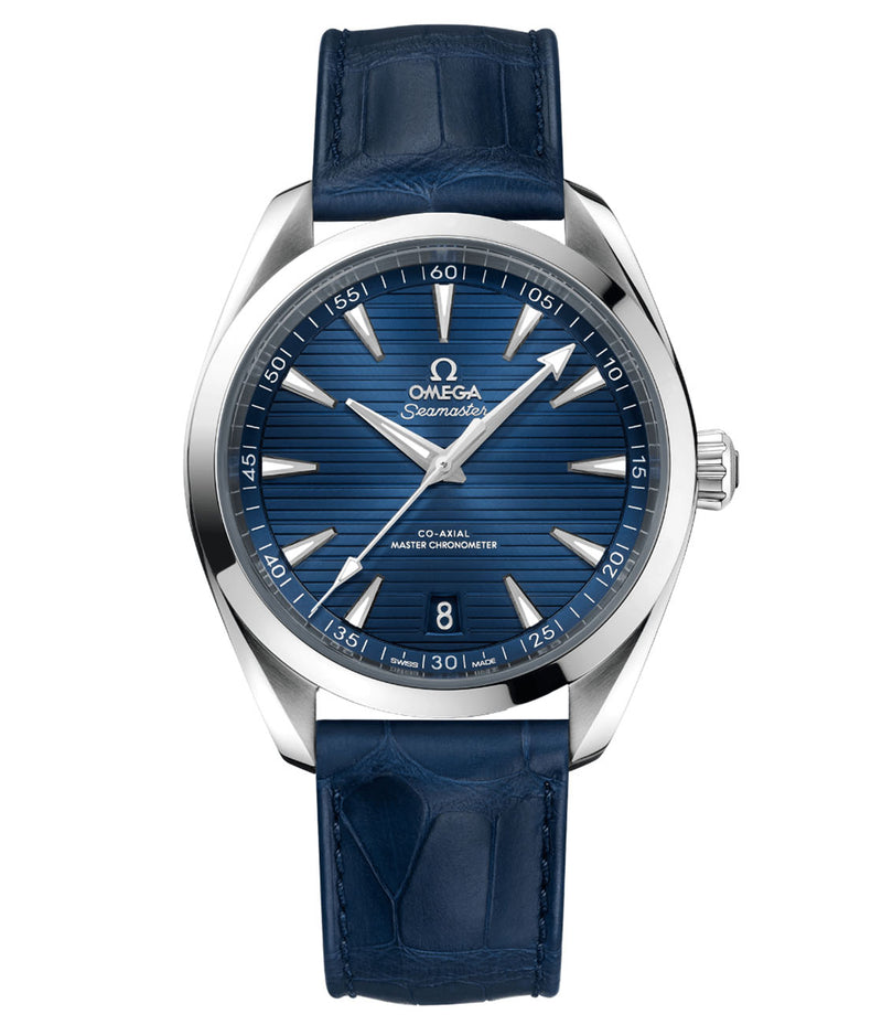 Aqua Terra 150m Co-Axial Master Chronometer Steel 41mm Blue Dial On Strap