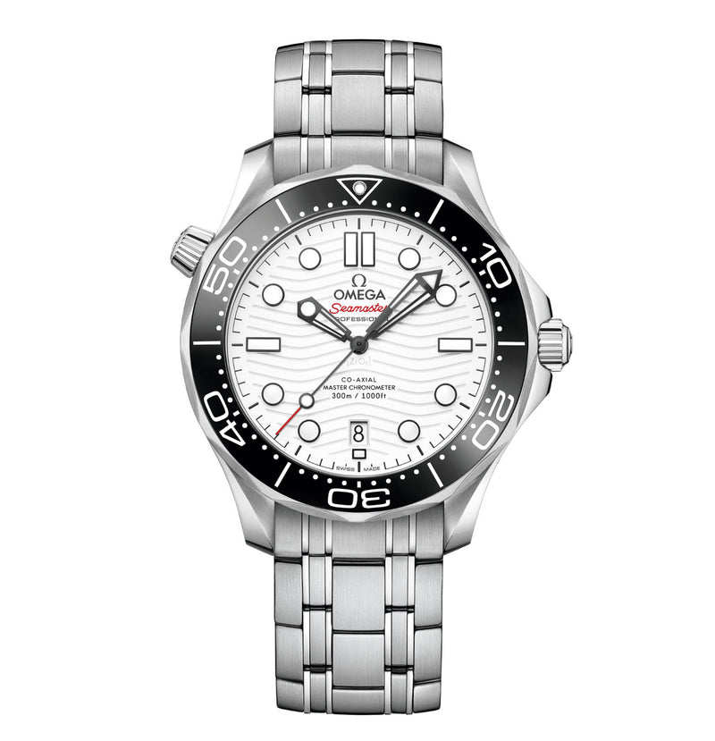 Diver 300m Co-Axial Master Chronometer Ceramic Bezel Steel 42mm White Dial