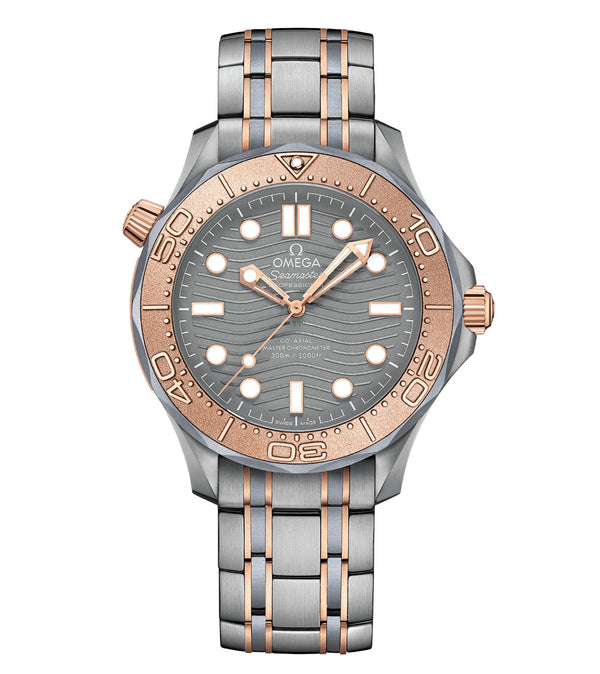 Diver 300m Co-Axial Master Chronometer Titanium And Gold 42mm Titanium Dial