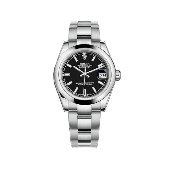 31mm Stainless Steel Black Index Dial Oyster Bracelet