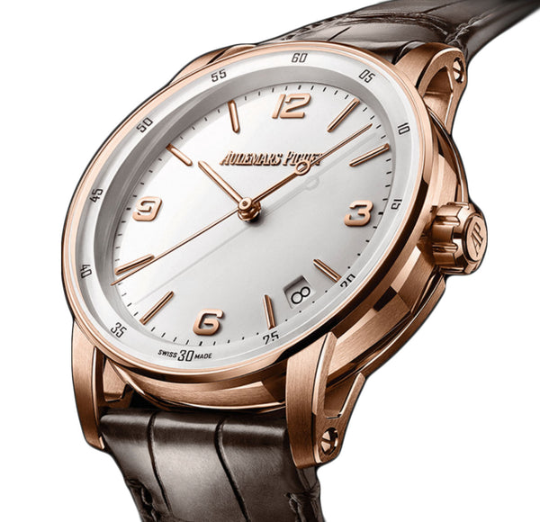 18k pink Gold White Dial 41mm