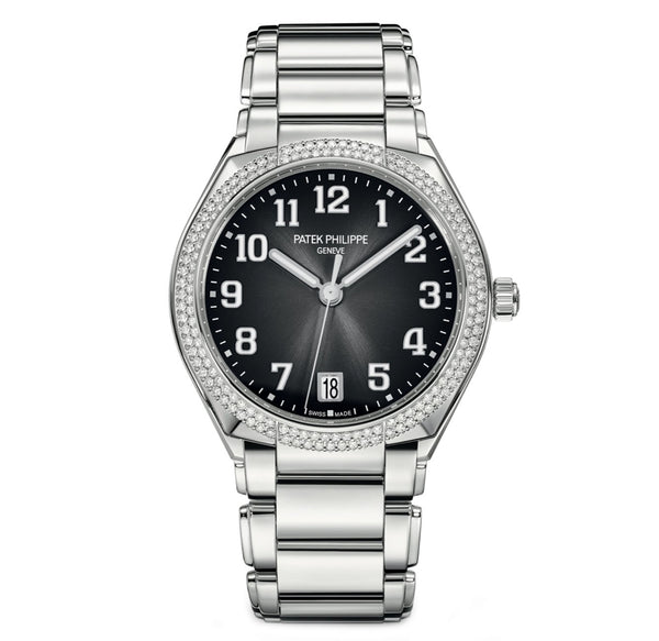 Steel Black Dial Diamond Bezel 36mm Automatic