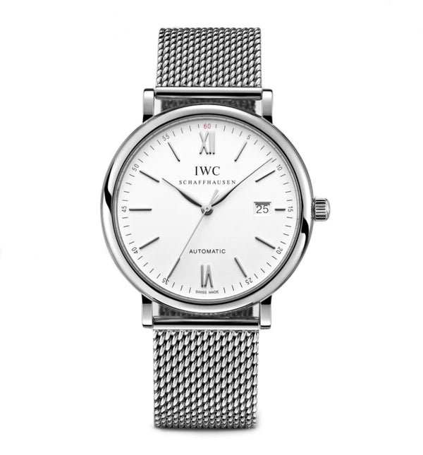 Steel 40mm Silver Dial On Mesh Bracelet
