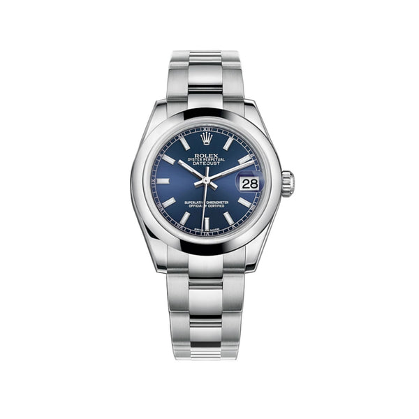 31mm Stainless Steel Blue Index Dial Oyster Bracelet