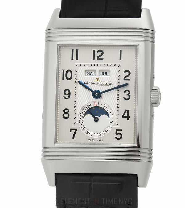 Grande Reverso Triple Calendar Moonphase Stainless Steel