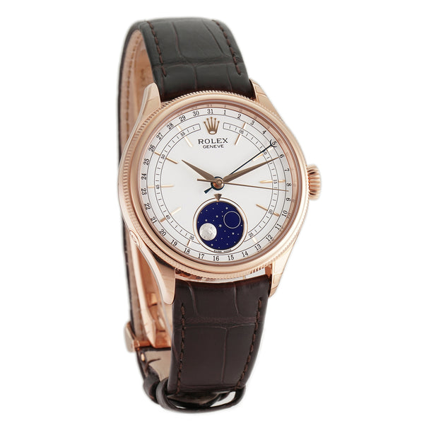 Moonphase 18k Everose Gold 39mm White Dial