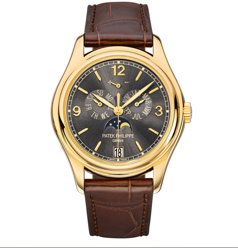 Annual Calendar Moon Phase 18k Yellow Gold 39mm Slate Grey Dial