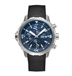 Chronograph Diver Jacques-Yves Cousteau Edition 44mm Steel Blue Dial On Rubber Strap