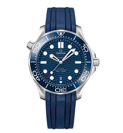Diver 300m Co-Axial Master Chronometer Blue Ceramic Bezel 42mm Blue Dial On Strap