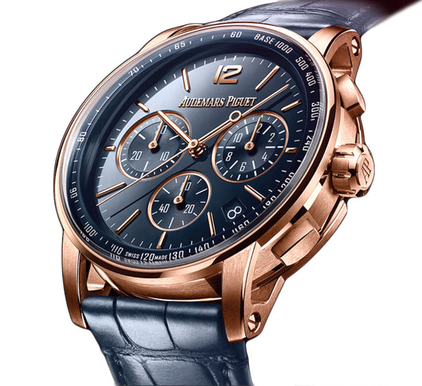 Chronograph 18k Pink Gold Blue Dial 41mm