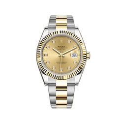 41mm Steel & Yellow Gold Champagne Diamond Dial Oyster Bracelet