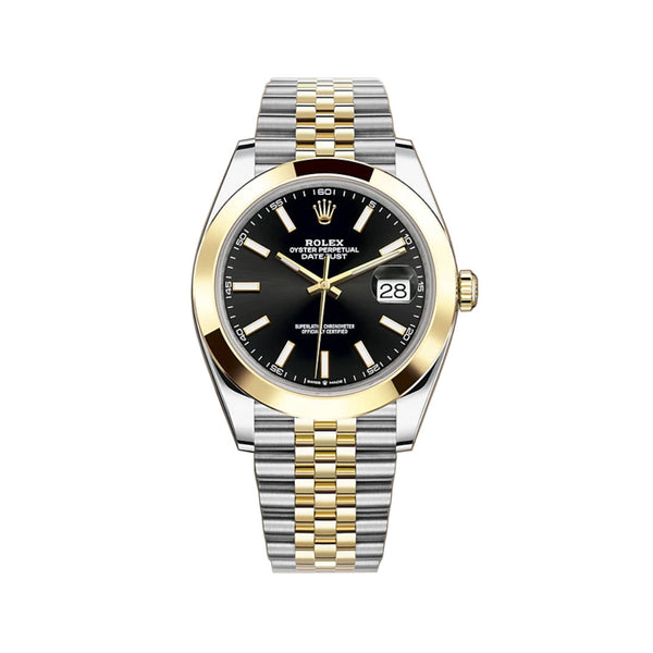 41mm Steel & Yellow Gold Black Index Dial Jubilee Bracelet