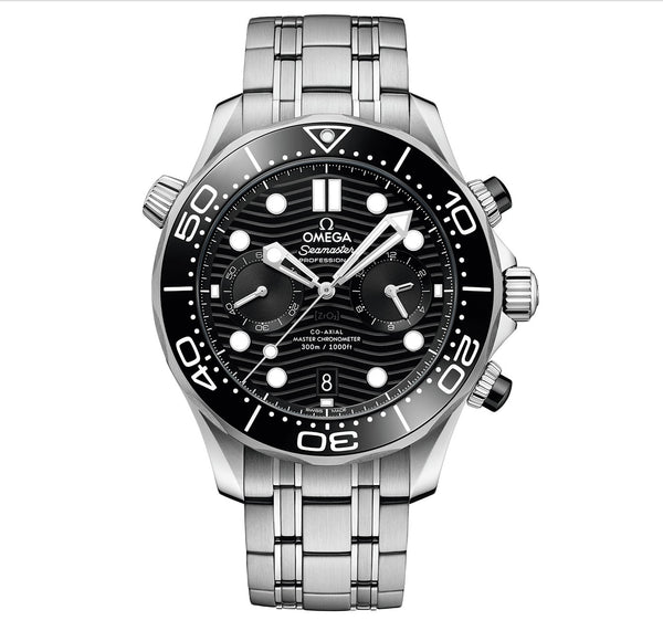Diver 300m Co-Axial Master Chronometer Chronograph 44mm Black Dial