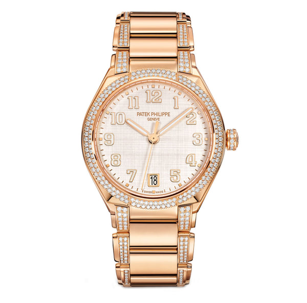 18k Rose Gold Diamonds Silver Dial 36mm Automatic