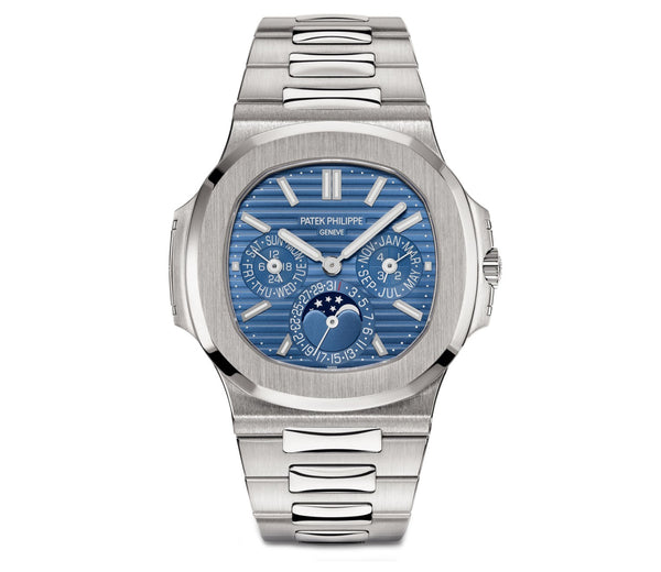 Perpetual Calendar 18k White Gold 40mm Blue Dial