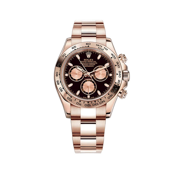 18k Everose Gold Black And Pink Dial