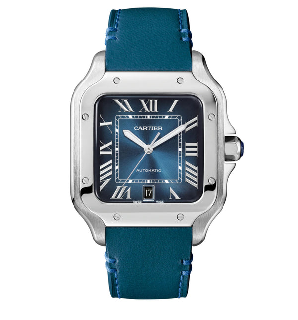 Large Model Stainless Steel Blue Dial Automatic