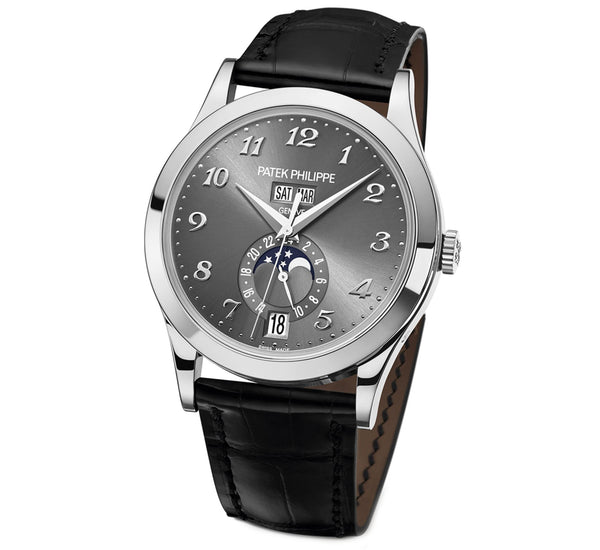 Annual Calendar Moon Phase GMT 18k White Gold 39mm Grey Dial