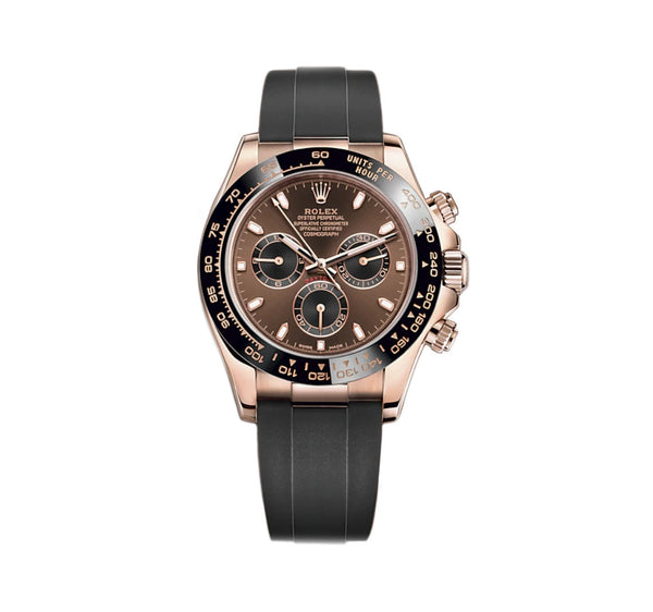 18k Everose Gold Ceramic Bezel Chocolate Brown Dial Oysterflex