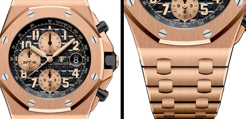 Chronograph 18k Pink Gold 42mm Black Dial