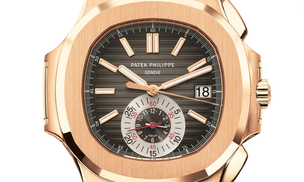 Chronograph 18k Rose Gold 41mm Black-Brown Dial On Strap