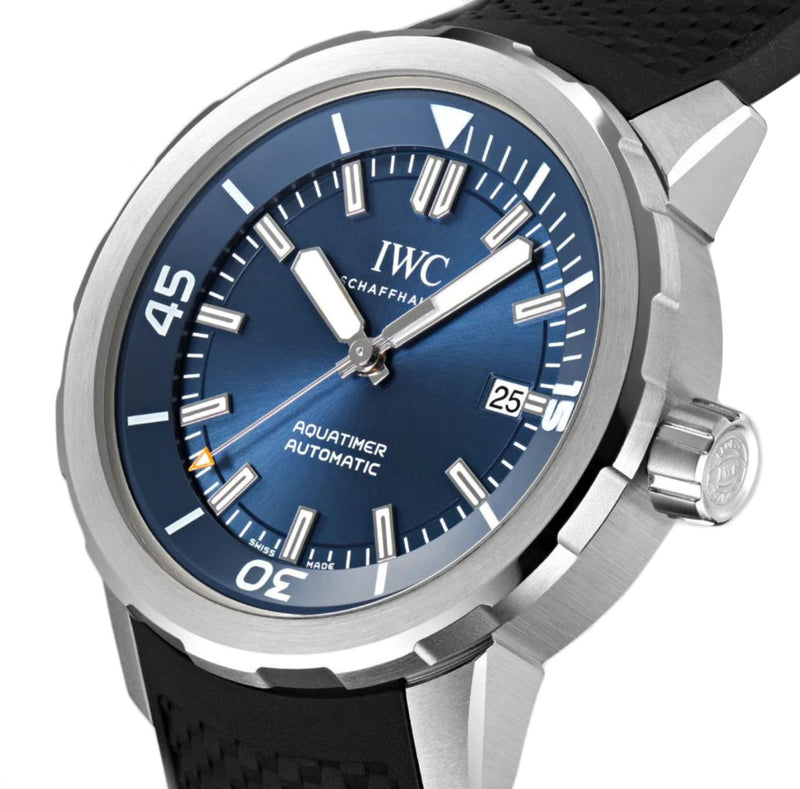 Jacques-Yves Cousteau Diver Steel 42mm Blue Dial On Rubber Strap