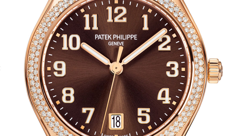18k Rose Gold Brown Dial Diamond Bezel 36mm Automatic