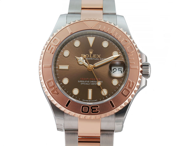37 Steel and 18k Everose Gold Chocolate Brown Dial