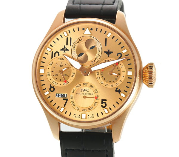 Big Pilot Perpetual Calendar Boutique 18k Rose Gold Champagne Dial XXX/250 Full Set