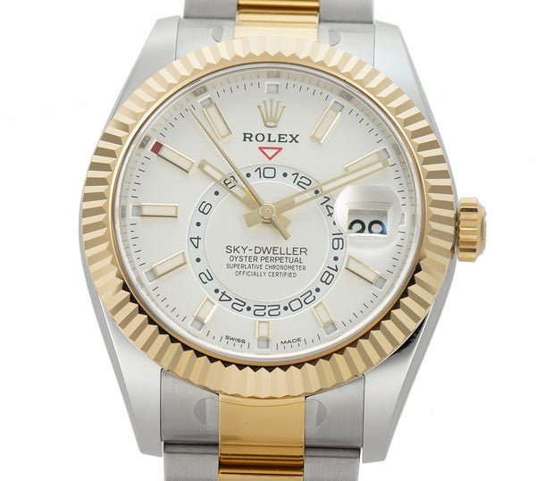 Steel & 18k Yellow Gold 42mm White Index Dial