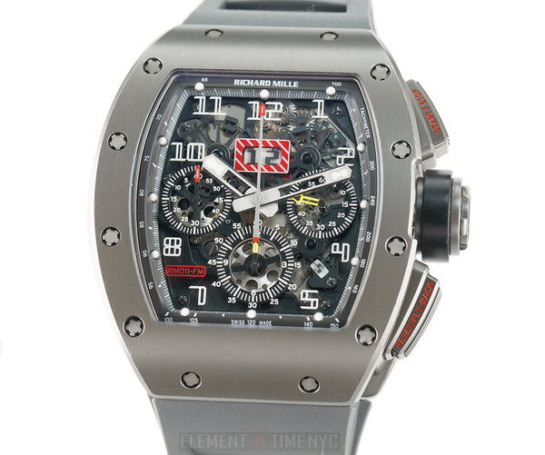 RM11-01 Felipe Massa Titalyt-Coated Titanium Flyback Chrono Annual Calendar Full Set 2011