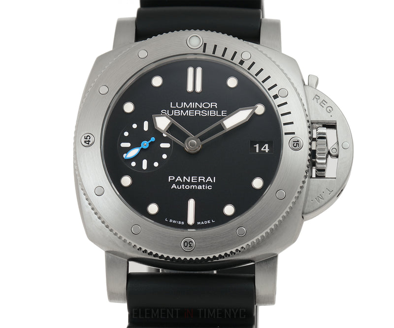 Luminor Submersible 42mm Steel Black Dial U Series Full Set 2018