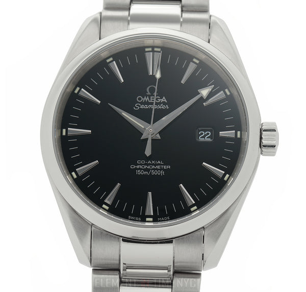 Aqua Terra Co-Axial Steel 42mm Black Dial