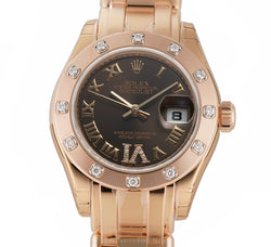 Lady Pearlmaster 18k Rose Gold Diamonds 29mm