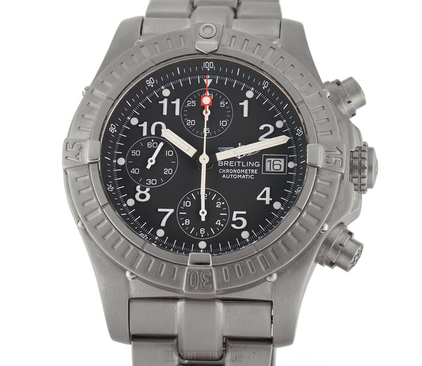 Chronograph Titanium 44mm Black Dial On Bracelet