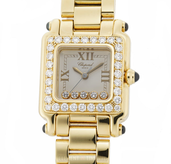 Square 5 Floating Diamonds 18k Yellow Gold