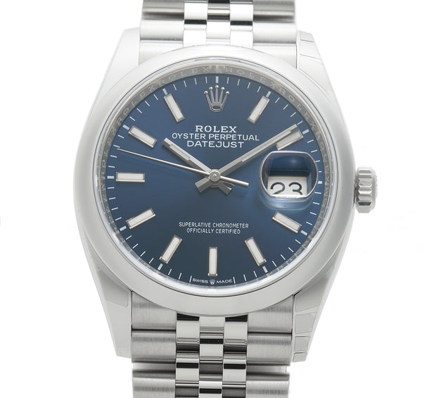 36mm Steel Blue Index Dial Jubilee Bracelet
