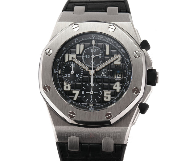 Black Themes Chronograph Steel 42mm Black Dial Serviced 11/2020