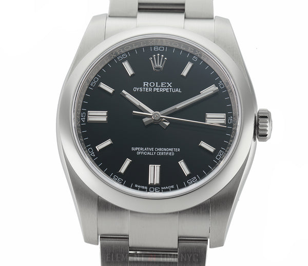 Stainless Steel No-Date Black Dial 36mm
