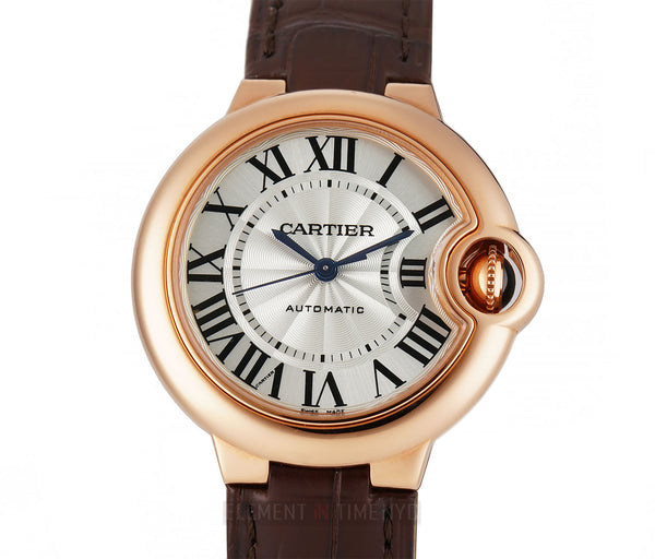 Ballon Bleu 18k Rose Gold 33mm Automatic On Strap