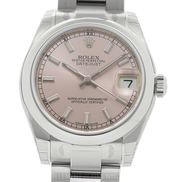 31mm Stainless Steel Pink Index Dial Oyster Bracelet