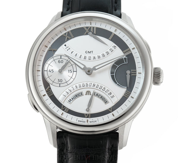 Double Retrograde GMT Silver Dial 46mm New-Old-Stock