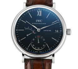 Portofino Hand Wound Eight Days Black Dial