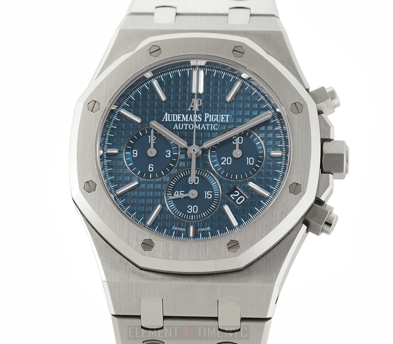 Chronograph Stainless Steel Blue Dial 41mm Full Set 2015