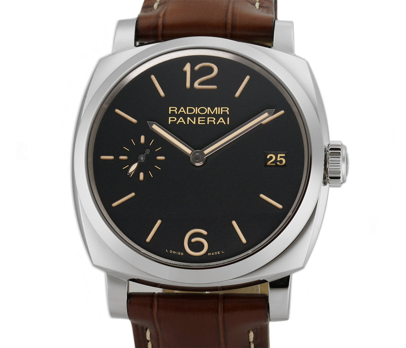 Radiomir 1940 47mm 3 Days Steel Black Sandwich Dial