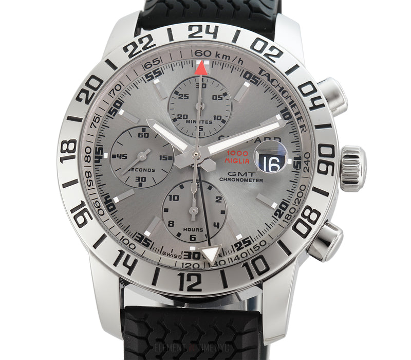 GMT Chronograph Steel 42mm Grey Dial