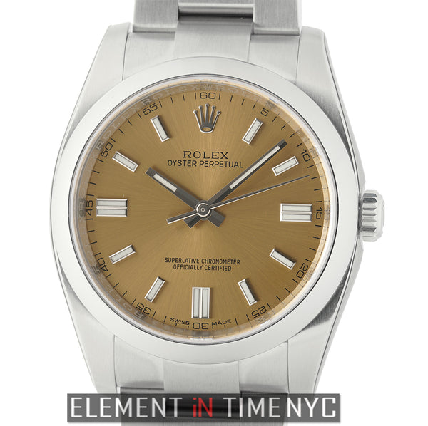 36mm Stainless Steel No-Date White Grape Dial